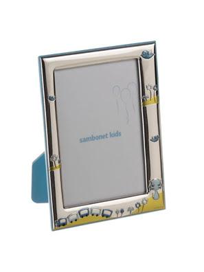 Khung ảnh trang trí Sambonet DANNY THE TRAIN 9x13cm màu xanh - 59661-01