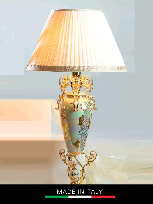 Đèn bàn mạ vàng 24k Caroline