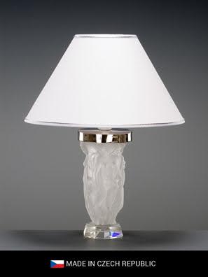 đèn bàn pha lê màu trắng thương hiệu Tom Bohemia