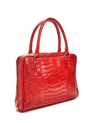 Túi xách da Rostaing Medicis Red màu đỏ - P-00008