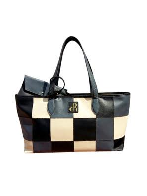 Túi xách da Rostaing Renaissance Black màu đen - P-00035
