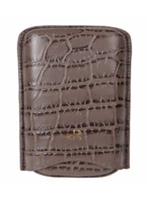 Case Da Rostaing Embossed Crocodile Grey màu xám - S-00252