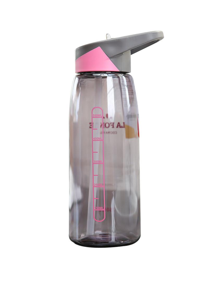 [MỚI] Bình nước uống thể thao La Fonte 750ml màu xám hồng - 452218-Pin