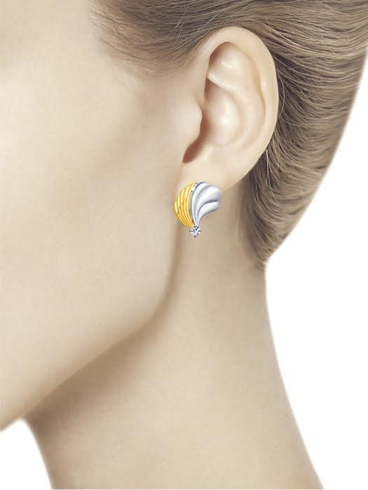 Bông tai Sokolov bạc đính kim cương zirconia - 94022875