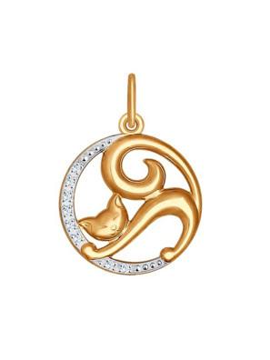 Mặt dây chuyền bằng  vàng đính đá  -  035064