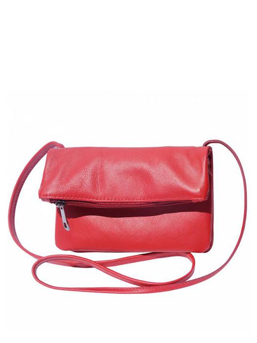 Túi xách da Ý Florence - 23x3x13cm màu đỏ - 3601-Red