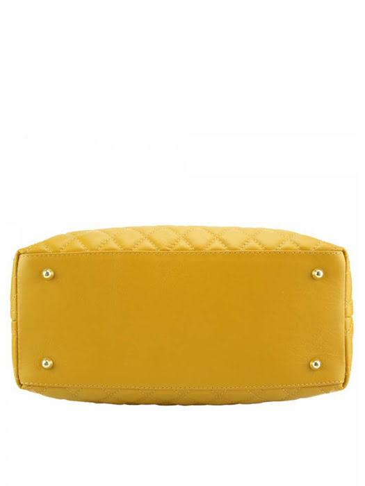 Túi xách da Ý Florence - 33x13x21 cm - 7006-Yellow