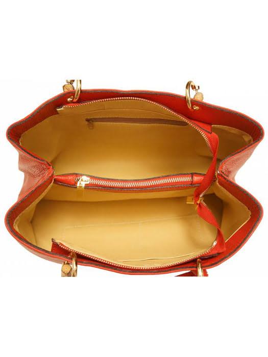 Túi xách da Ý Florence - 36x14x23cm - 9139-Red