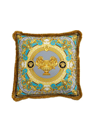 Gối Versace Z7021 ngọc lam-xám-vàng size 45x45cm ZCOP0001.Z7021