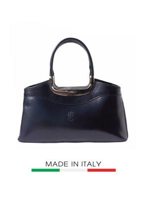 Túi xách da Ý Florence - 32x9x14cm màu đen - 200-Black