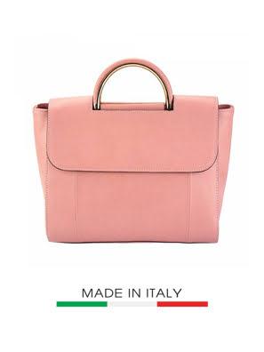 Túi xách da Ý Florence - 29x15x25cm - 307-Pink
