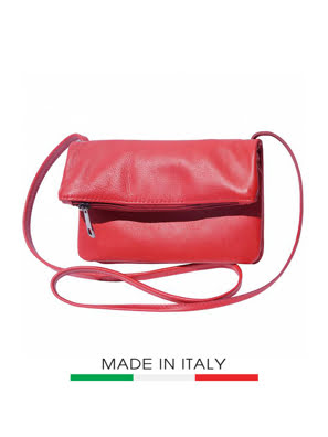 Picture of Túi xách da Ý Florence - 23x3x13cm màu đỏ - 3601-Red