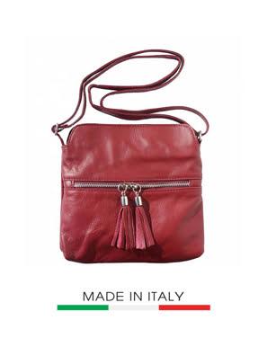 Túi xách da Ý Florence - 22x3x25cm màu đỏ đậm - 6110-Bordeaux