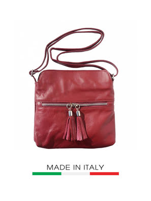 Picture of Túi xách da Ý Florence - 22x3x25cm màu đỏ đậm - 6110-Bordeaux