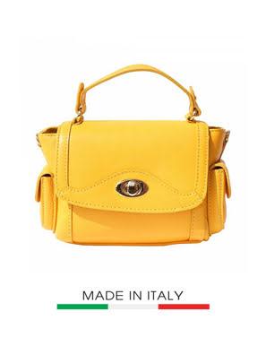 Túi xách da Ý Florence - 22x10x15cm màu vàng - 6142-Yellow