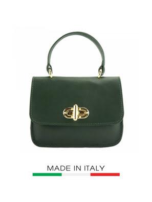 Túi xách da Ý Florence - 18x6,5x14,5 cm - 8057-Tan