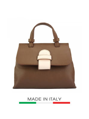 Túi xách da Ý Florence - 18x6,5x14,5 cm - 8062-Tan