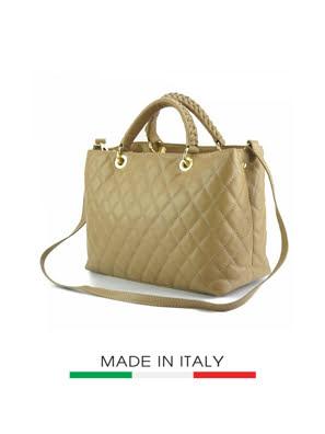 Túi xách da Ý Florence - 33x13x21 cm - 7006-Taupe