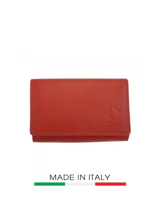 Ví da Ý Florence 12X9CM - PF060B-RED