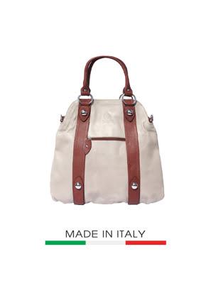 Túi xách da Ý Florence 40X10X36CM - 8002-TAUPE