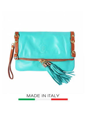 Picture of Túi xách da Ý Florence 40X10X36CM - STOCK-3-TURQUOIS