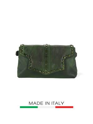 Túi xách da Ý Florence 30X9X17CM - 68148-GREEN