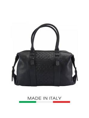 Túi xách da Ý Florence 44x17x26cm - 68120-BLACK