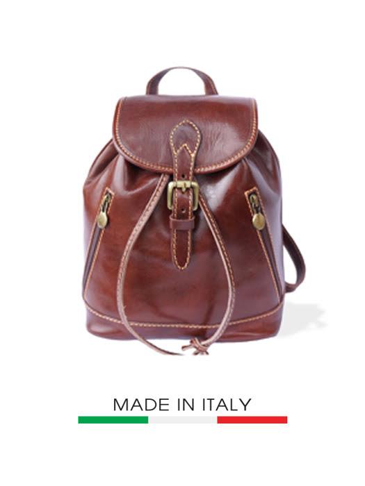 Ba lô da Ý Florence 20X15X27CM - 6559-BROWN