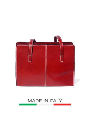 Túi xách da Ý Florence 32x10x23cm - 6510-RED
