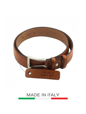 Dây thắt lưng da Ý Florence 3.5CM/14 IN - 01935-TAN