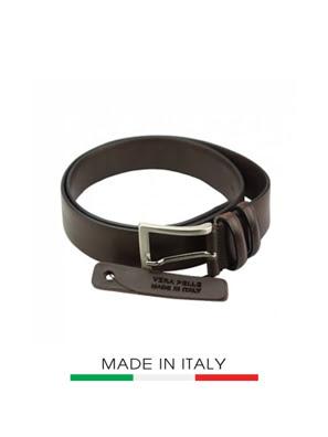 Dây thắt lưng da Ý Florence 3.5CM/1.4IN - 01835-D-BROWN