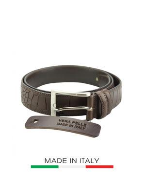 Dây thắt lưng da Ý Florence  3.5CM/1.4IN 00235-BROWN