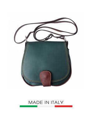 Túi xách da Ý Florence - 18x5x17 cm - B024-DGreen