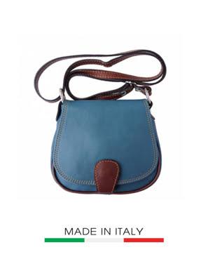 Túi xách da Ý Florence - 18x5x17 cm - B024-Cyan
