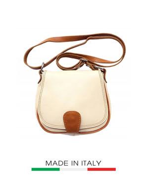 Túi xách da Ý Florence - 18x5x17 cm - B024-Beige