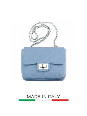 Túi xách da Ý Florence - 19x7x14 cm - 9604-Cyan