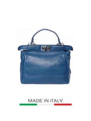 Túi xách da Ý Florence - 30x10x28 cm - 9141-Turquoise