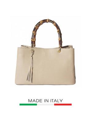 Túi xách da Ý Florence - 36x14x23 cm - 9139-Tan