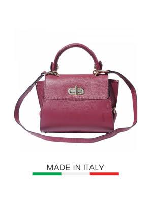 Túi xách da Ý Florence 22.5x12.5x19 cm - 9134-Bordeaux