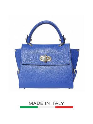 Túi xách da Ý Florence 22.5x12.5x19 cm - 9134-Blue