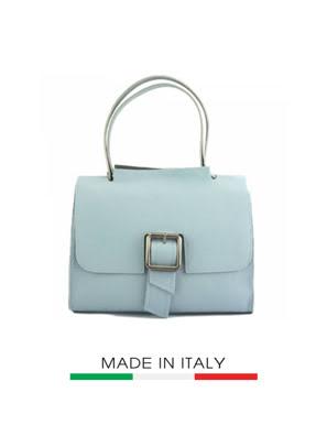 Túi xách da Ý Florence 29x14x21 cm - 9128-Cyan