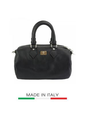 Túi xách da Ý Florence 26x15x15cm - 9127-Black