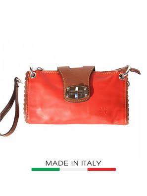 Túi xách da Ý Florence - 22x4x13 cm - 8611-Red