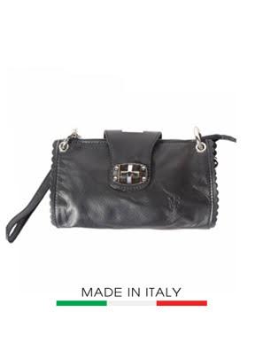 Túi xách da Ý Florence - 22x4x13 cm - 8611-Black