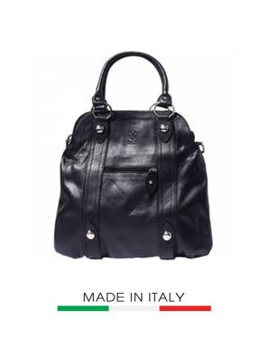 Túi xách da Ý Florence 40X10X36CM - 8002-BLACK