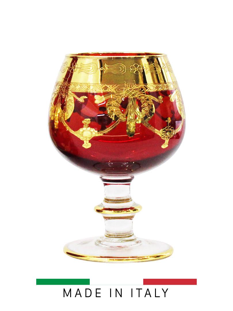 Bộ 6 ly rượu vang pha lê đỏ Same Decorazione Italy