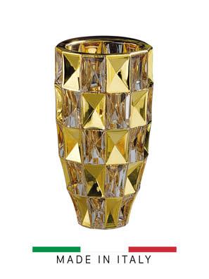 Bình hoa pha lê phun vàng Same Decorazione Italy - 3701