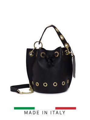 Túi xách Marlon Firenze 20x19cm - màu đen - BS0168/1-D28