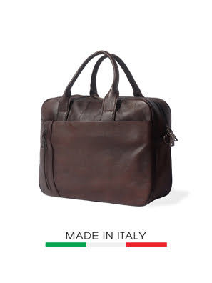 Picture of Túi xách da Ý Florence 36x8x27cm - 68037-BROWN