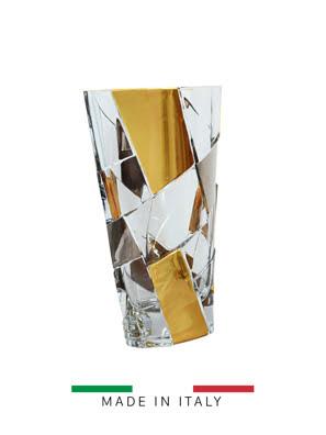 Bình hoa pha lê Goldline Italia mạ vàng 24k cao 30cm - CV15-GS